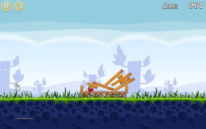 Screen Shots Of  Angry Birds Game Download for pc